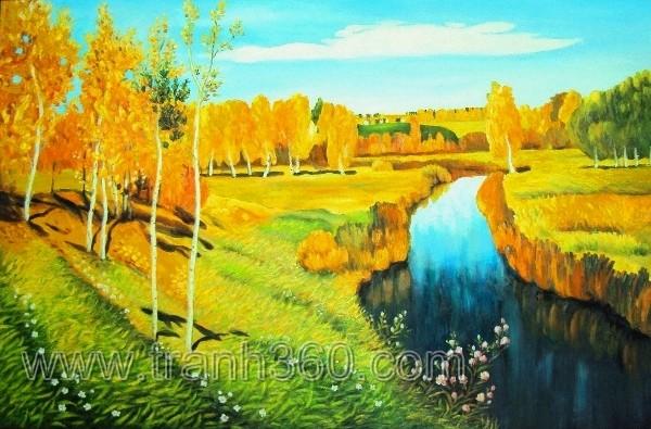 Tác phẩm mùa thu vàng của họa sỹ Levitan