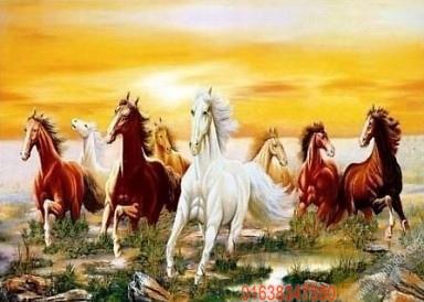 Tranh năm ngựa