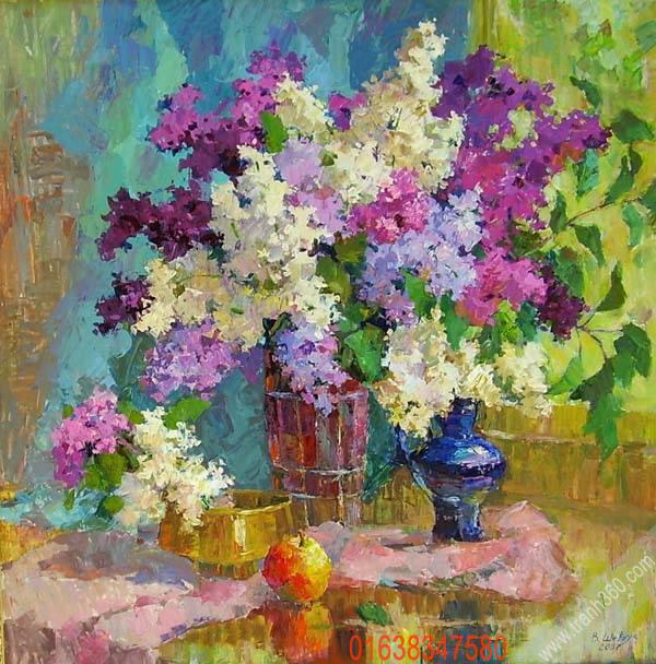 Tranh tinh vat ve hoa dep