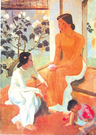 Hai thiếu nữ và em bé của Tô Ngọc Vân