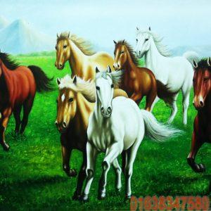 Tranh ngựa sơn dầu