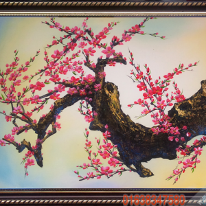 Tranh hoa đào đẹp